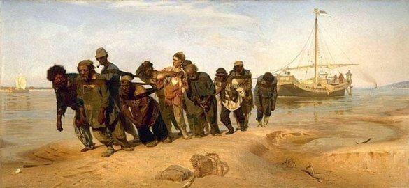 Ilya Repin-Barge Haulers on the Volga (1870-73)